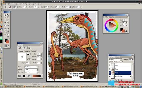 Captura de pantalla Artweaver para Windows 8