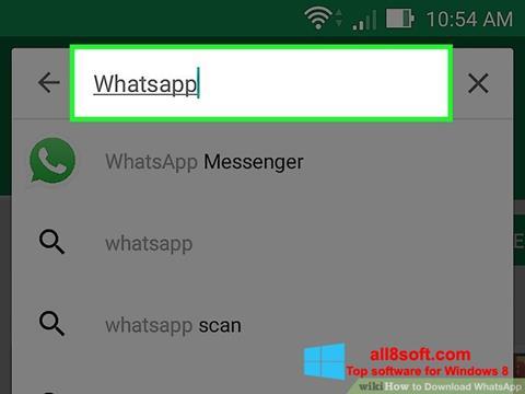 Captura de pantalla WhatsApp para Windows 8