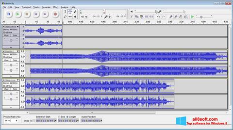 Captura de pantalla Audacity para Windows 8