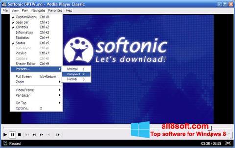 Captura de pantalla Media Player Classic para Windows 8