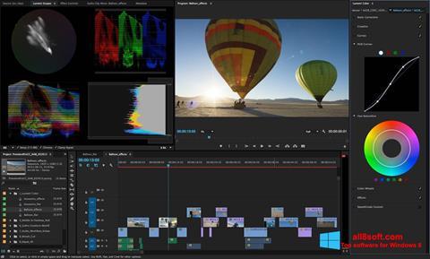 Captura de pantalla Adobe Premiere Pro para Windows 8