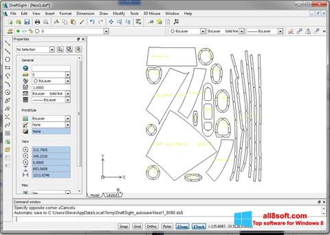 Captura de pantalla DraftSight para Windows 8