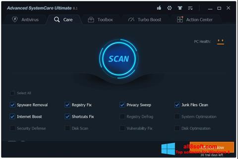 Captura de pantalla Advanced SystemCare para Windows 8