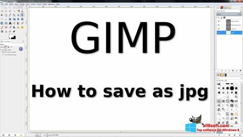Captura de pantalla GIMP para Windows 8