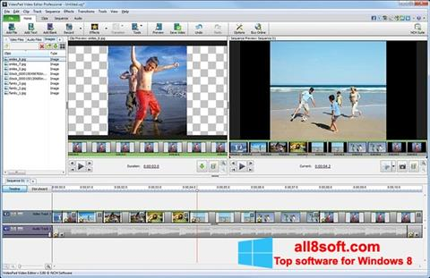 Captura de pantalla VideoPad Video Editor para Windows 8