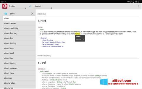 Captura de pantalla ABBYY Lingvo para Windows 8