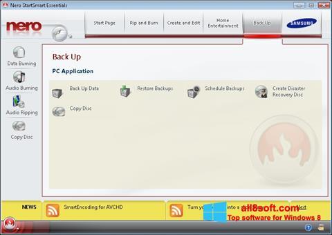 Captura de pantalla Nero para Windows 8