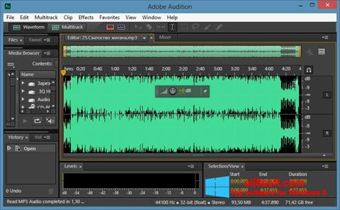 Captura de pantalla Adobe Audition CC para Windows 8