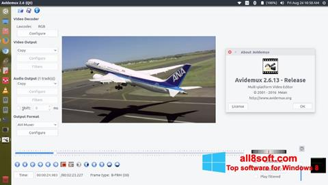 Captura de pantalla Avidemux para Windows 8